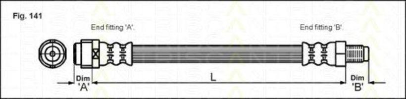 Тормозной шланг TRISCAN 815023104