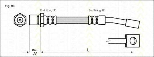 Тормозной шланг TRISCAN 815024122