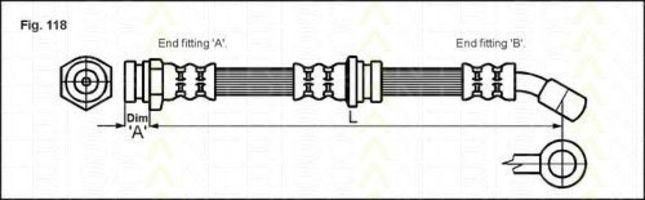 Тормозной шланг TRISCAN 815024124