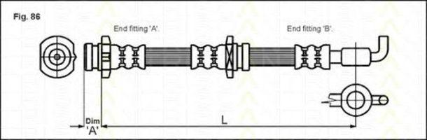 Шланг тормозной TRISCAN 815024125