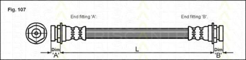 Шланг тормозной TRISCAN 8150 24129