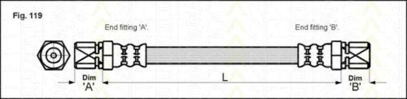 Шланг тормозной TRISCAN 8150 24209