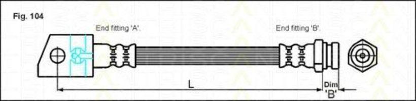 Шланг тормозной TRISCAN 815024216