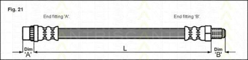 Шланг тормозной TRISCAN 815025103