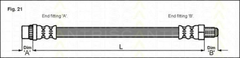 Шланг тормозной TRISCAN 8150 25106