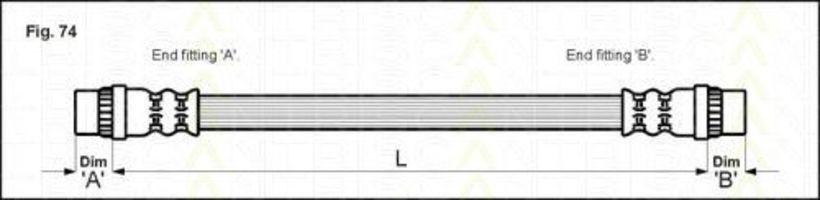 Шланг тормозной TRISCAN 815025202