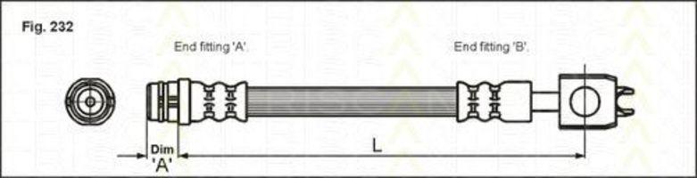 Тормозной шланг TRISCAN 815029123