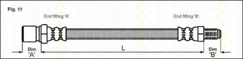 Шланг тормозной TRISCAN 8150 38102