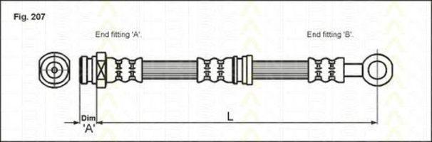 Тормозной шланг TRISCAN 815042112