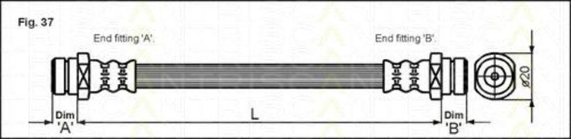 Шланг тормозной TRISCAN 8150 42212