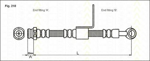 Тормозной шланг TRISCAN 815043109