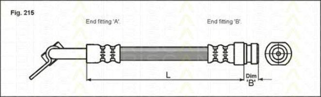 Шланг тормозной TRISCAN 8150 43112
