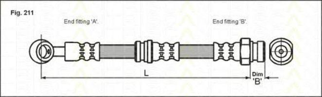 Тормозной шланг TRISCAN 815043206