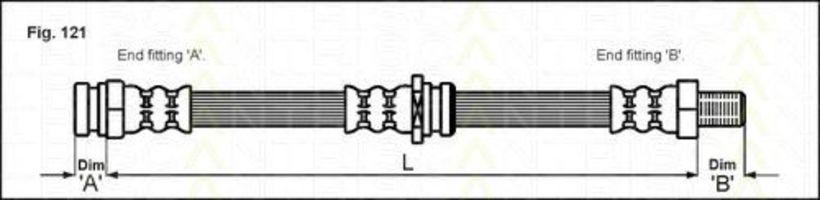Тормозной шланг TRISCAN 815050101