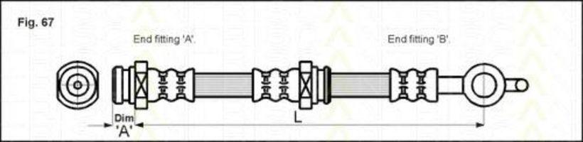 Тормозной шланг TRISCAN 815050105