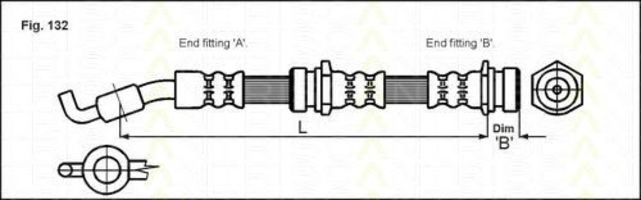 Тормозной шланг TRISCAN 815050107