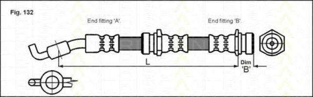 Шланг тормозной TRISCAN 8150-50217