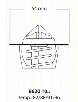 Термостат, охлаждающая жидкость TRISCAN 86201082