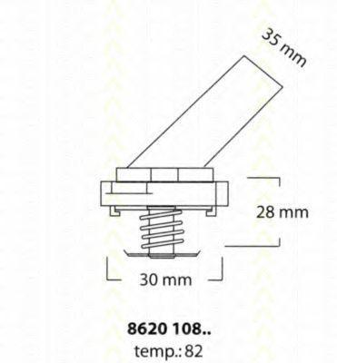 Термостат, охлаждающая жидкость TRISCAN 862010882