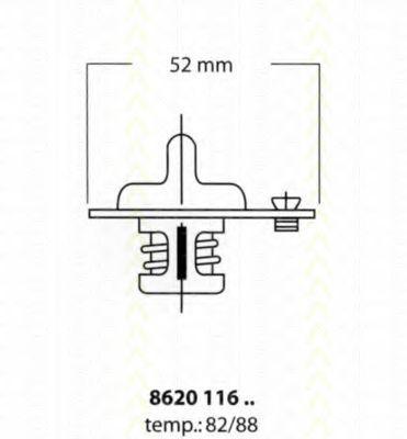 Термостат, охлаждающая жидкость TRISCAN 862011682