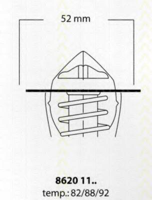 Термостат, охлаждающая жидкость TRISCAN 86201192