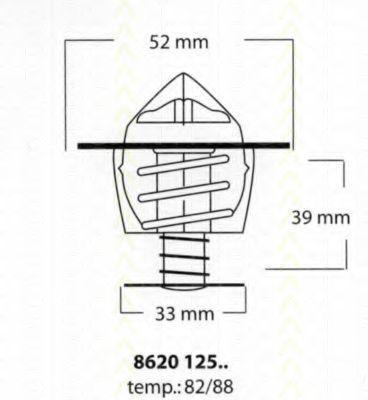 Термостат, охлаждающая жидкость TRISCAN 862012588