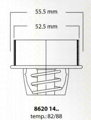 Термостат, охлаждающая жидкость TRISCAN 86201482