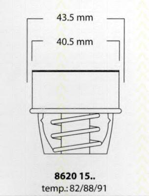 Термостат, охлаждающая жидкость TRISCAN 86201588