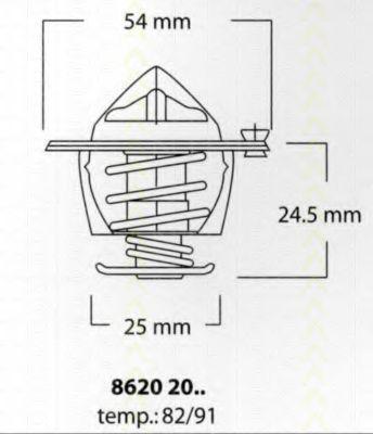 Термостат, охлаждающая жидкость TRISCAN 86202091