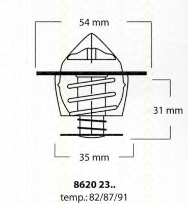 Термостат, охлаждающая жидкость TRISCAN 86202387