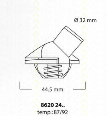 Термостат, охлаждающая жидкость TRISCAN 86202487