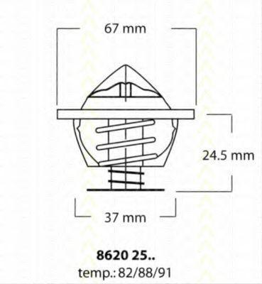 Термостат, охлаждающая жидкость TRISCAN 86202591