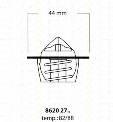 Термостат, охлаждающая жидкость TRISCAN 86202782