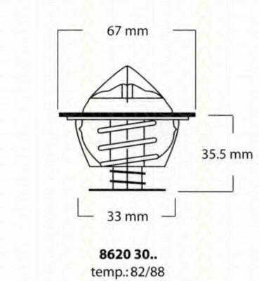 Термостат, охлаждающая жидкость TRISCAN 86203082