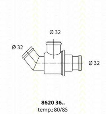 Термостат, охлаждающая жидкость TRISCAN 86203680