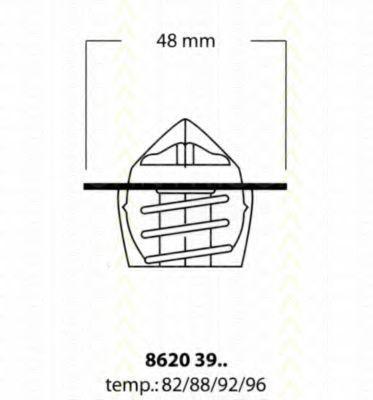 Термостат, охлаждающая жидкость TRISCAN 86203988