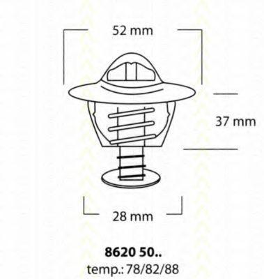 Термостат, охлаждающая жидкость TRISCAN 86205078