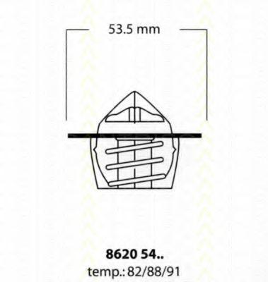 Термостат, охлаждающая жидкость TRISCAN 86205488