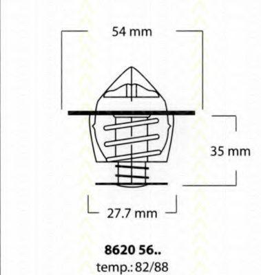 Термостат, охлаждающая жидкость TRISCAN 86205682