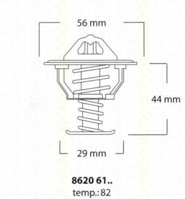 Термостат, охлаждающая жидкость TRISCAN 86206182
