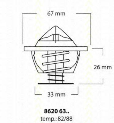 Термостат, охлаждающая жидкость TRISCAN 86206382