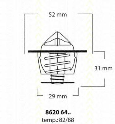 Термостат, охлаждающая жидкость TRISCAN 86206482