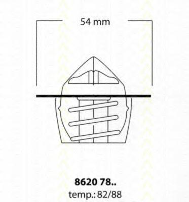 Термостат, охлаждающая жидкость TRISCAN 86207882