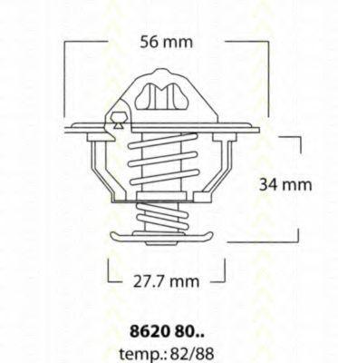 Термостат, охлаждающая жидкость TRISCAN 86208082