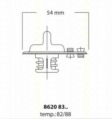 Термостат, охлаждающая жидкость TRISCAN 86208388