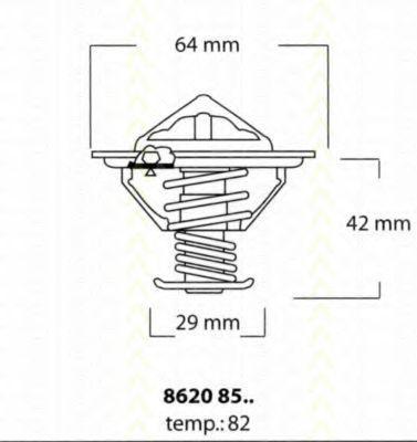 Термостат, охлаждающая жидкость TRISCAN 86208582