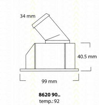 Термостат, охлаждающая жидкость TRISCAN 86209092