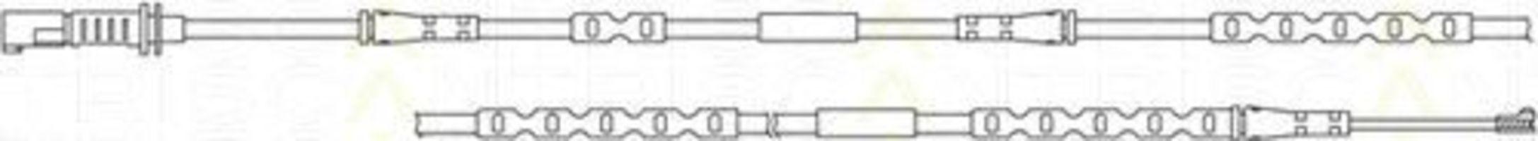 Сигнализатор, износ тормозных колодок TRISCAN 811511059
