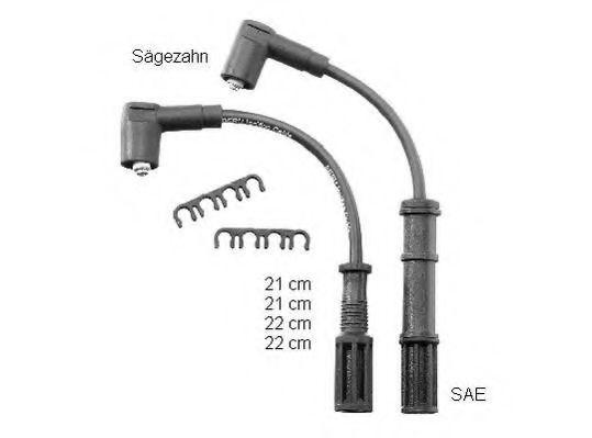 Провода высоковольтные комплект BERU ZEF 1598