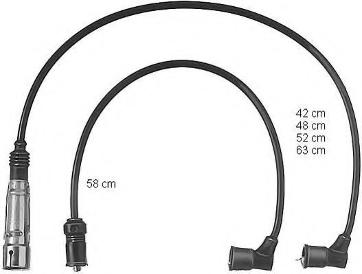 Провода высоковольтные комплект BERU ZEF432